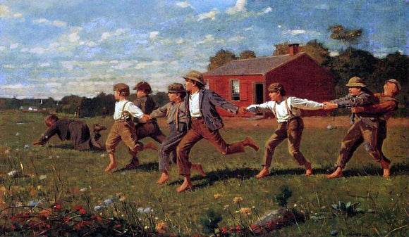 Winslow Homer Snap the Whip - Canvas Art Print