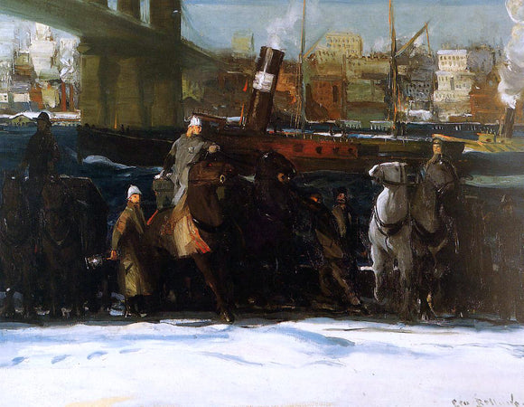 George Wesley Bellows Snow Dumpers - Canvas Art Print