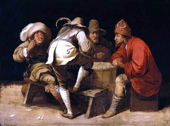 Pieter Jansz Quast Soldiers Gambling with Dice - Canvas Art Print