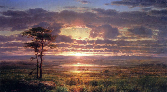 Louis Remy Mignot Solitude - Canvas Art Print