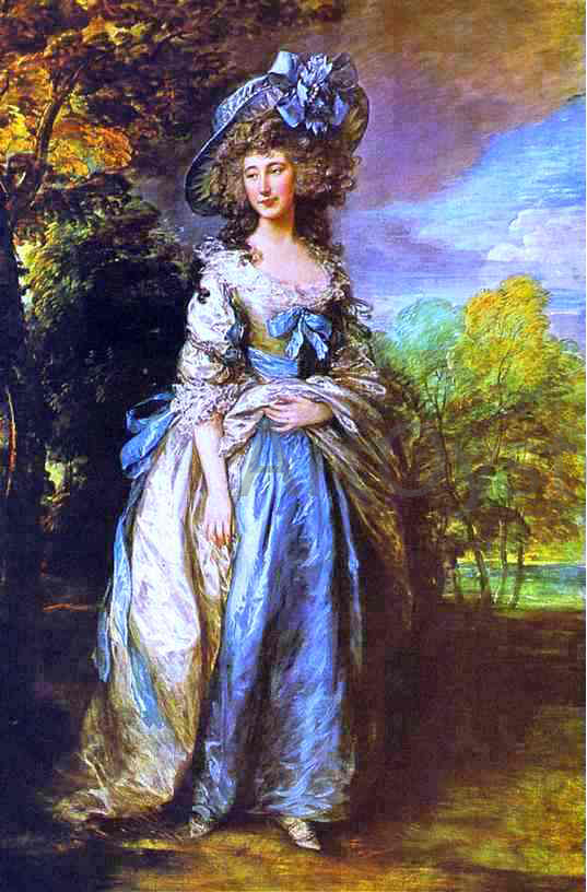 Thomas Gainsborough Sophia Charlotte, Lady Sheffield - Canvas Art Print