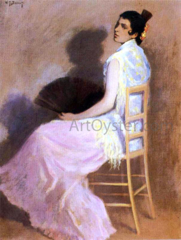 William Turner Dannat Spanish Woman with a Fan - Canvas Art Print