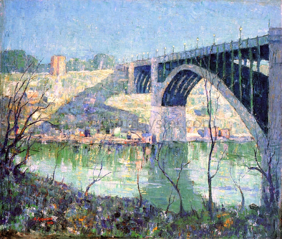 Ernest Lawson A Spring Night, Harlem River - Canvas Art Print
