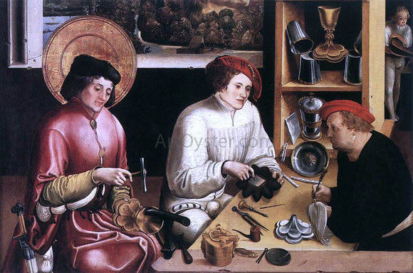 Niklaus Manuel St Eligius in the Workshop - Canvas Art Print