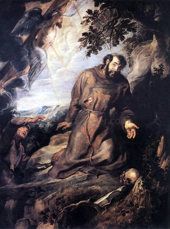Peter Paul Rubens St Francis of Assisi Receiving the Stigmata - Canvas Art Print