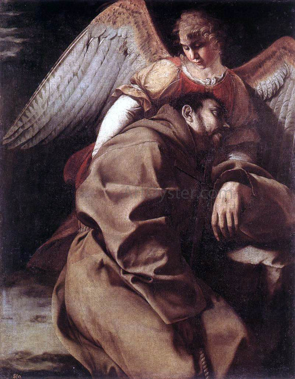 Orazio Gentileschi St Francis Supported by an Angel - Canvas Art Print