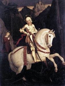 Franz Pforr St George and the Dragon - Canvas Art Print