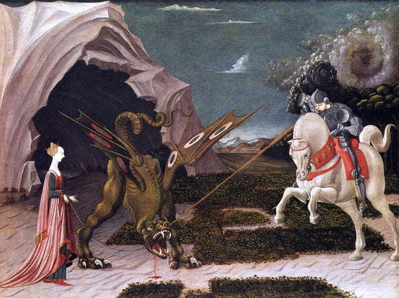 Paolo Uccello St. George and the Dragon - Canvas Art Print
