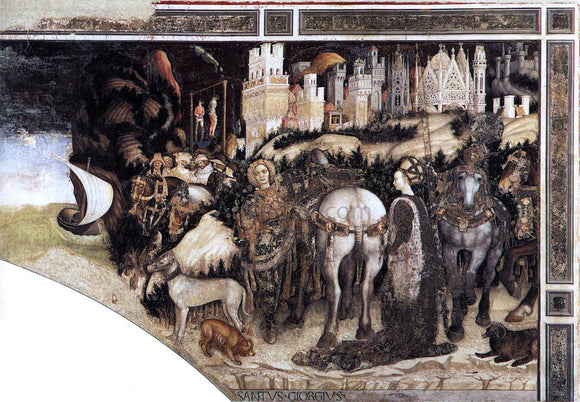 Antonio Pisanello St George and the Princess of Trebizond (right side) - Canvas Art Print