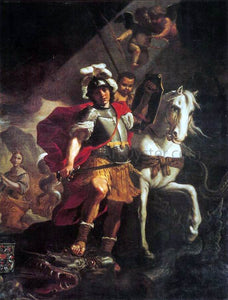 Mattia Preti St. George Victorious over the Dragon - Canvas Art Print