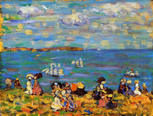 Maurice Prendergast St. Malo (also known as Sketch, St. Malo) - Canvas Art Print