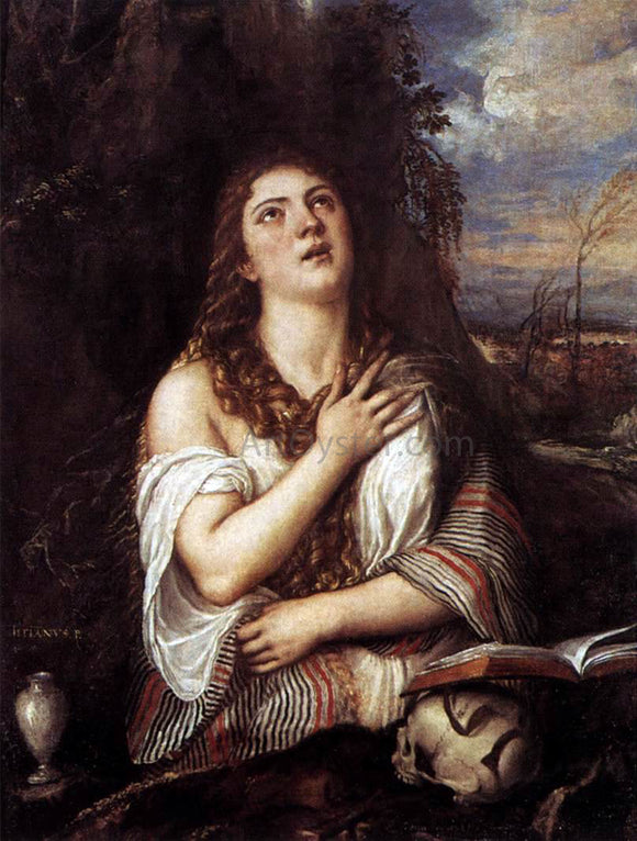 Titian St Mary Magdalene - Canvas Art Print