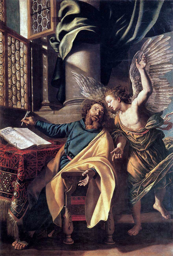 Vincenzo Campi St Matthew and the Angel - Canvas Art Print