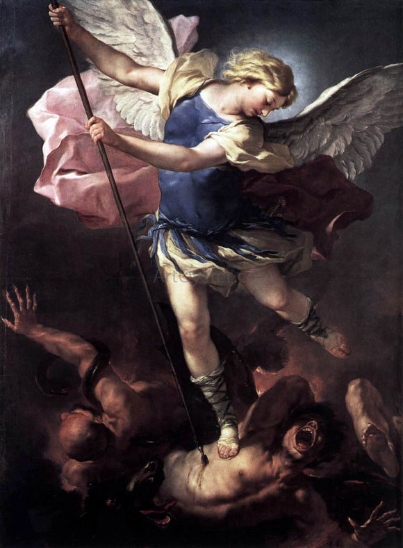 Luca Giordano St Michael - Canvas Art Print