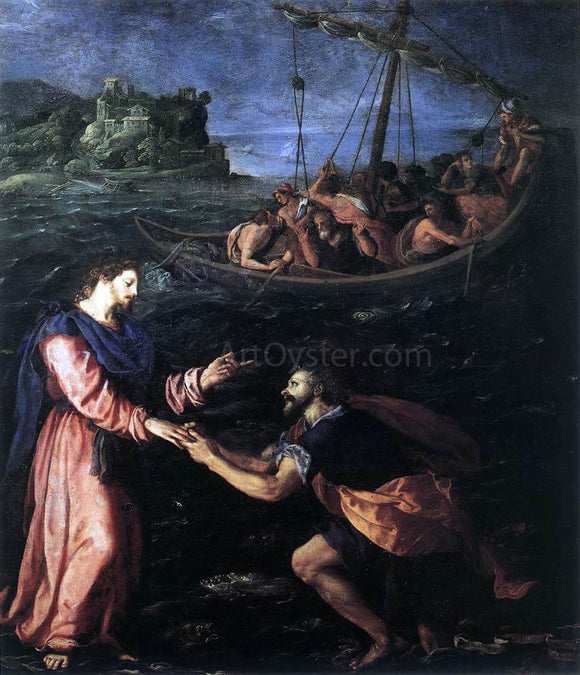 Alessandro Allori St Peter Walking on the Water - Canvas Art Print