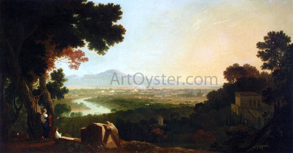 Richard R A St. Peter's and The Vatican from the Janiculum - Canvas Art Print