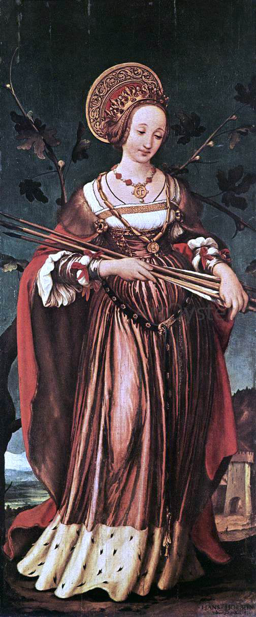The Younger Hans Holbein St Ursula - Canvas Art Print