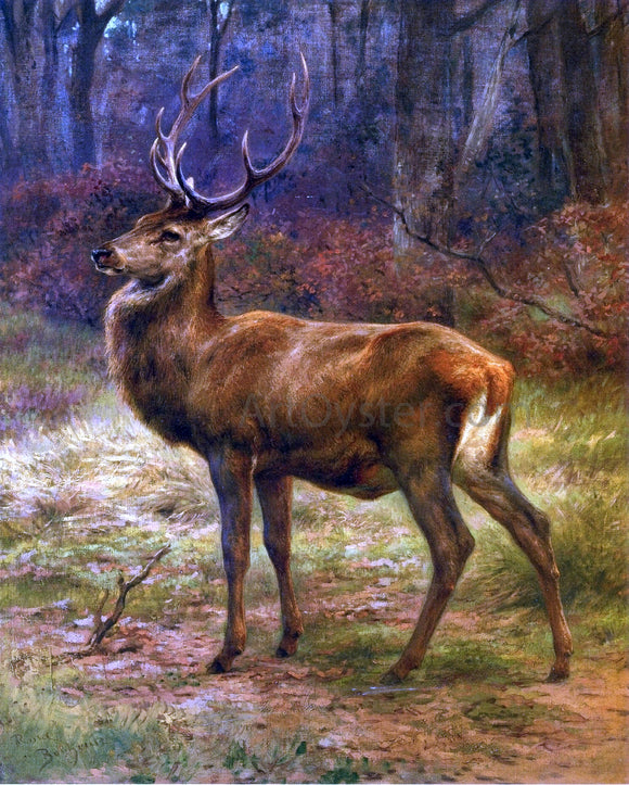 Rosa Bonheur Stag in an Autumn Landscape - Canvas Art Print