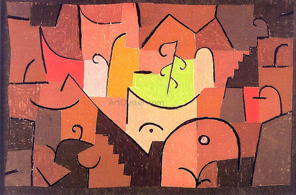 Paul Klee Stage Landscapes - Canvas Art Print
