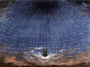 Karl Friedrich Schinkel Stage set for Mozart's Magic Flute - Canvas Art Print