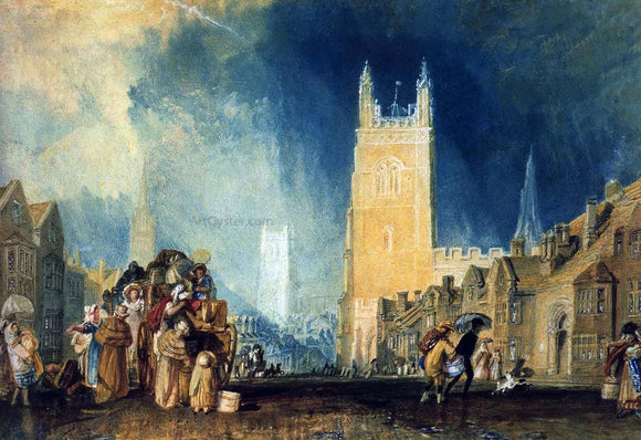 Joseph William Turner Stamford, Lincolnshire - Canvas Art Print