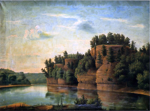 Julian Edwards Bryant Starved Rock in La Salle County - Canvas Art Print