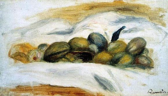 Pierre Auguste Renoir Still Life - Almonds and Walnuts - Canvas Art Print