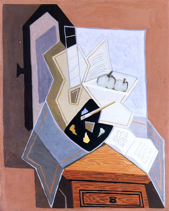 Juan Gris Still Life at the Open Window - Canvas Art Print