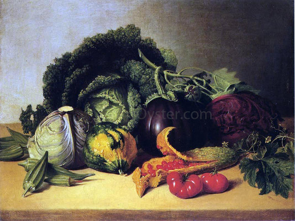 James Peale Still Life: Balsam Apples and Vegetables - Canvas Art Print