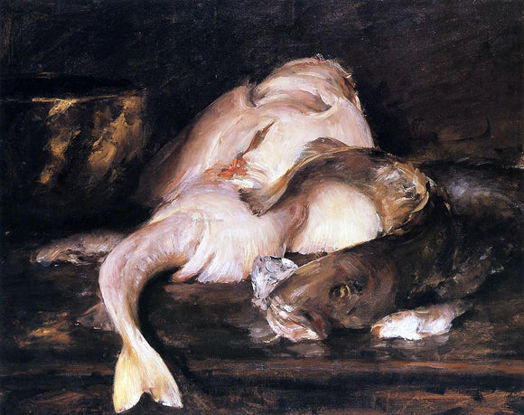 William Merritt Chase Still Life, Fish - Canvas Art Print