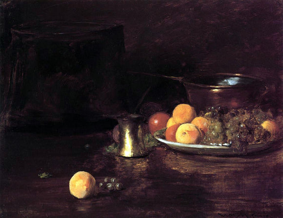William Merritt Chase Still Life - Fruit - Canvas Art Print