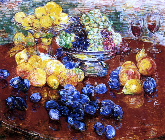 Frederick Childe Hassam Still Life, Fruits - Canvas Art Print