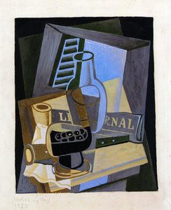 Juan Gris Still Life in Front of the Window - Canvas Art Print