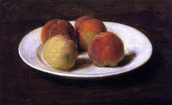 Henri Fantin-Latour Still Life of Four Peaches - Canvas Art Print