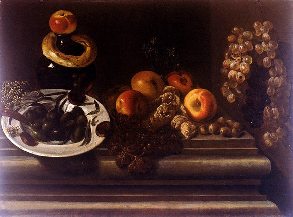 Juan Bautista De Espinosa Still Life of Fruits And A Plate Of Olives - Canvas Art Print