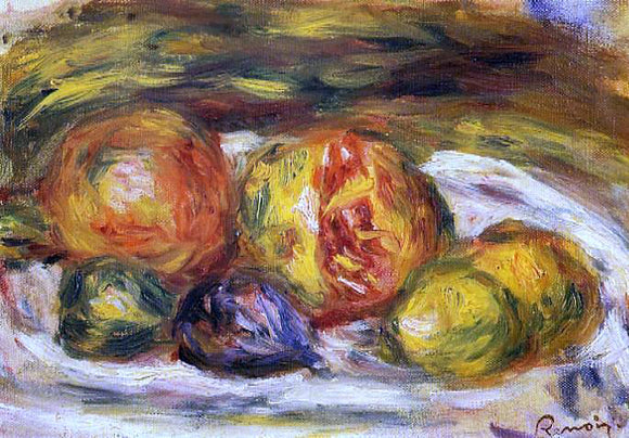 Pierre Auguste Renoir Still Life - Pomegranate, Figs and Apples - Canvas Art Print