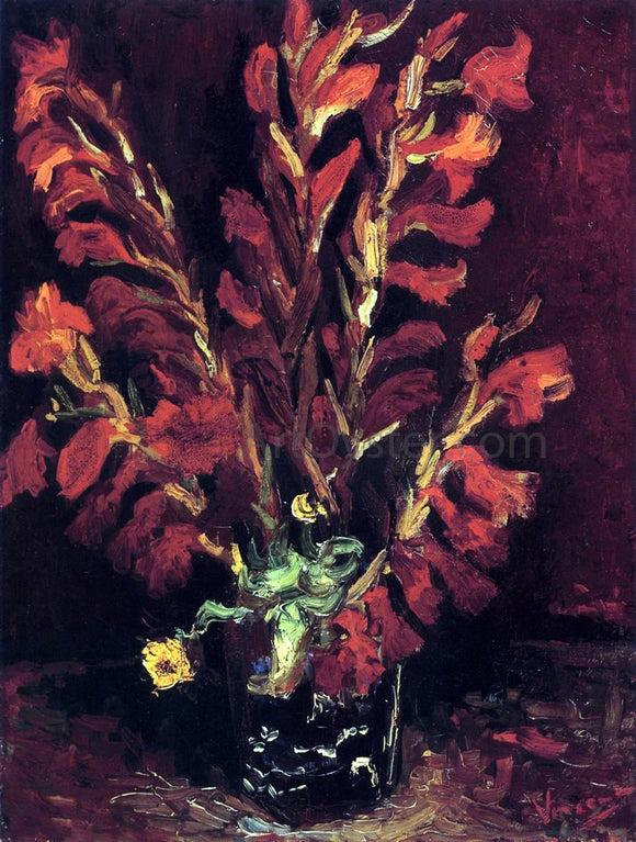 Vincent Van Gogh Still Life: Vase with Gladiolas - Canvas Art Print