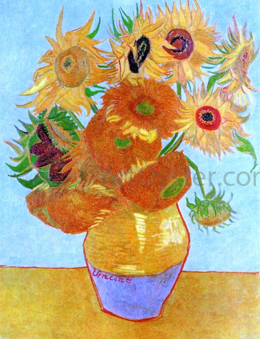 Vincent Van Gogh A Still Life: Vase with Twelve Sunflowers - Canvas Art Print