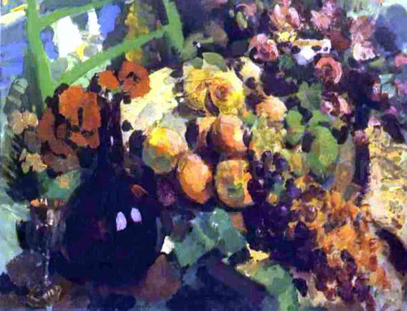 Constantin Alexeevich Korovin Still Life, Wine and Fruit - Canvas Art Print