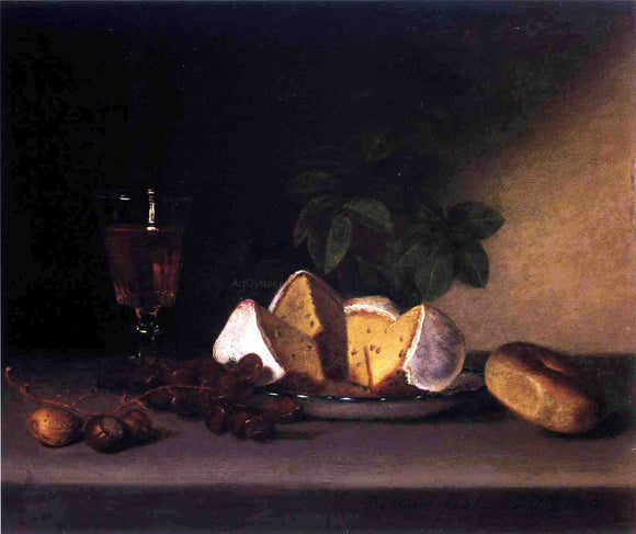 Raphaelle Peale Still Life: Wine, Cakes and Nuts - Canvas Art Print