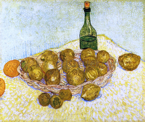Vincent Van Gogh Still Life with a Bottle, Lemons and Oranges - Canvas Art Print