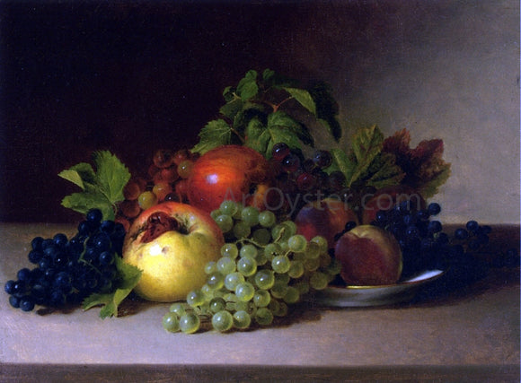 James Peale Still Life with Apples and Grapes - Canvas Art Print