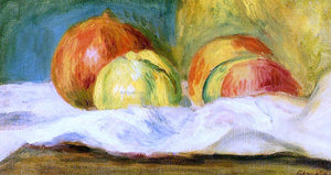 Pierre Auguste Renoir Still Life with Apples and Pomegranates - Canvas Art Print