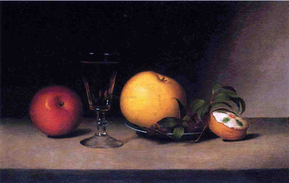 Raphaelle Peale Still Life with Apples, Sherry and Tea Cake - Canvas Art Print