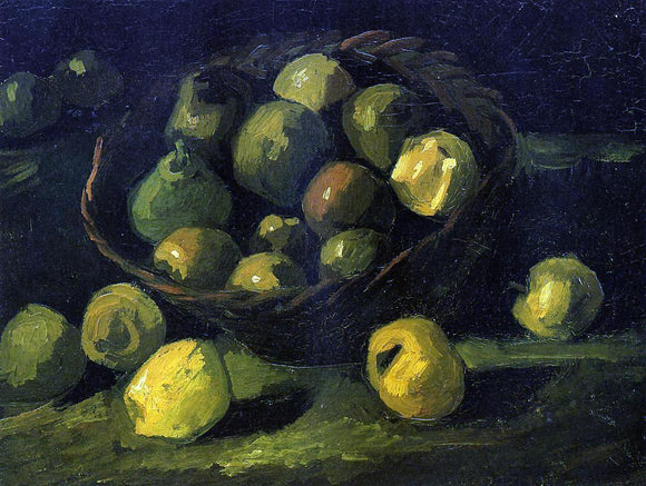 Vincent Van Gogh Still Life with Basket of Apples - Canvas Art Print