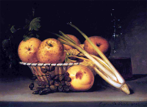 Raphaelle Peale Still Life with Celery and Wind - Canvas Art Print
