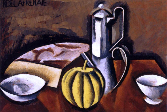 Roger De la Fresnaye Still Life with Coffee Pot and Melon - Canvas Art Print