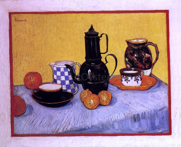 Vincent Van Gogh Still Life with Coffeepot - Canvas Art Print