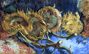Vincent Van Gogh Still Life with Four Sunflowers - Canvas Art Print