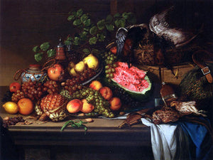 Joseph Biays Ord Still Life with Fruit and Game - Canvas Art Print
